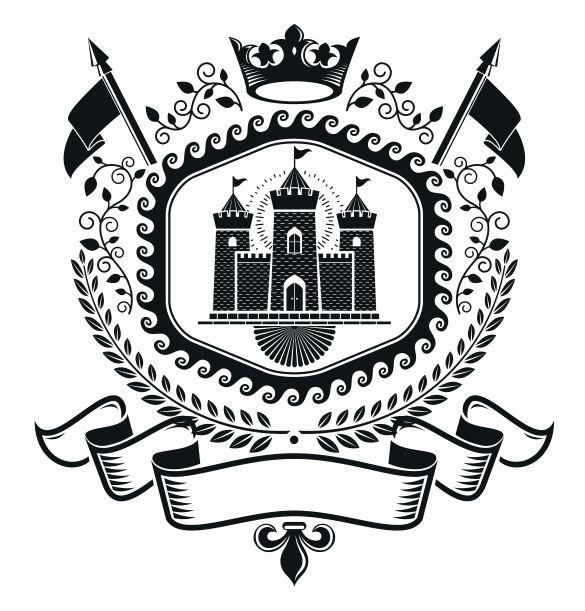 Castle Emblem Logo Badge Design Free CDR Vectors Art