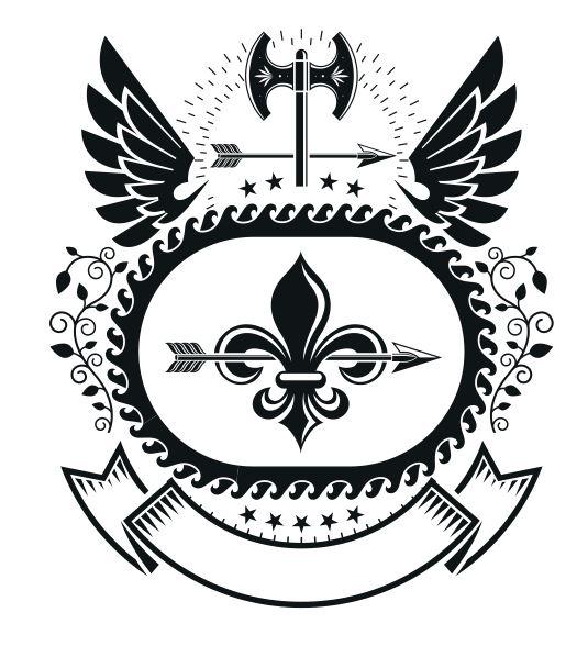 Combatant Emblem Badge Free CDR Vectors Art