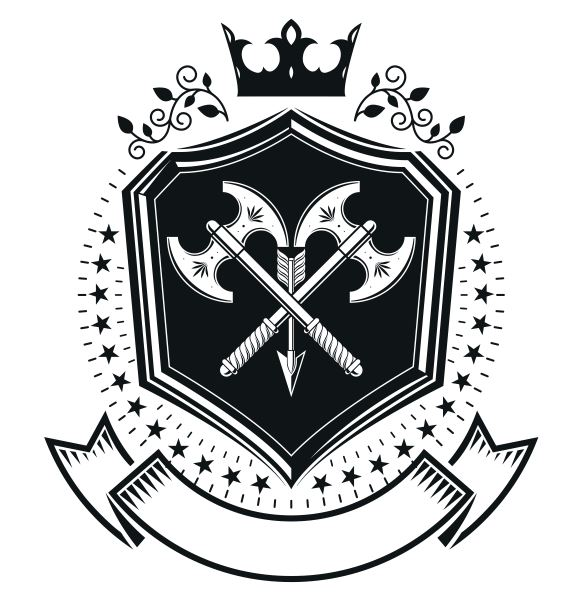 Combatant Emblem Design Logo Badge Free CDR Vectors Art