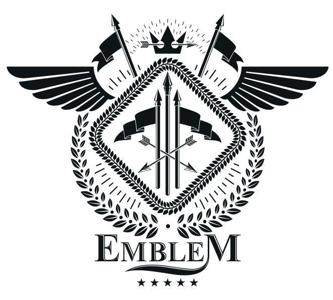 Emblem Design Free CDR Vectors Art