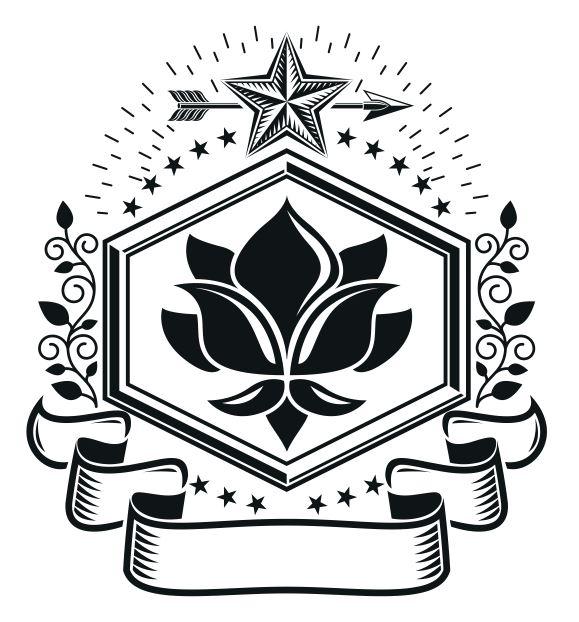 Floral Emblem Design Logo Badge Free CDR Vectors Art