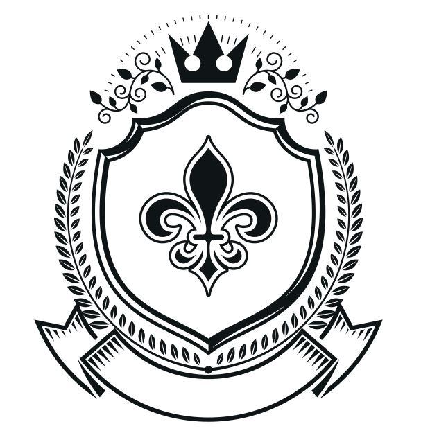 Floral Emblem Design Logo Free CDR Vectors Art
