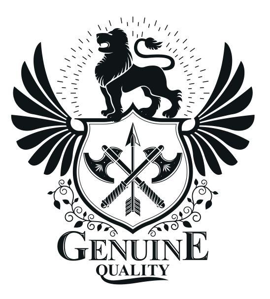 Genuine Emblem Design Logo Badge Free CDR Vectors Art