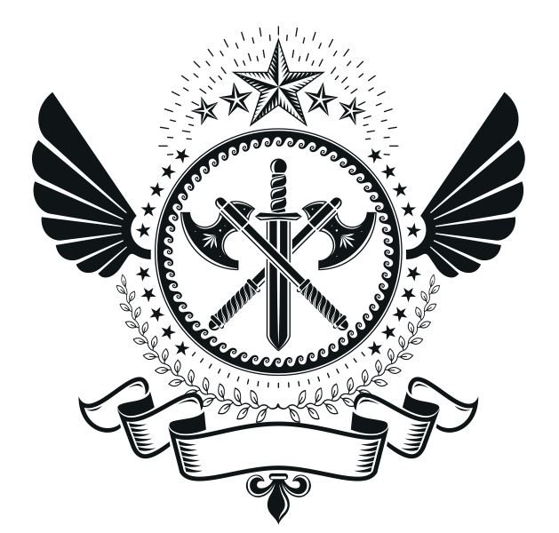 Gladiator Axe Emblem Free CDR Vectors Art