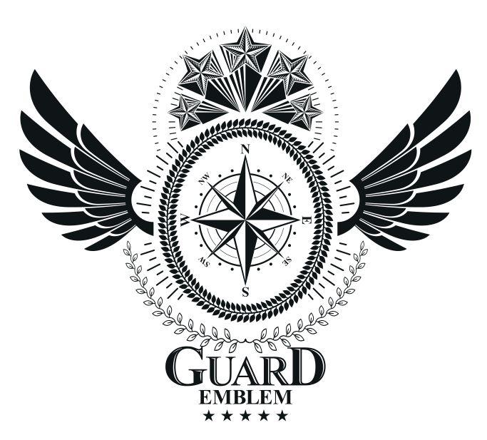 Guard Emblem Design Logo Badge Free CDR Vectors Art