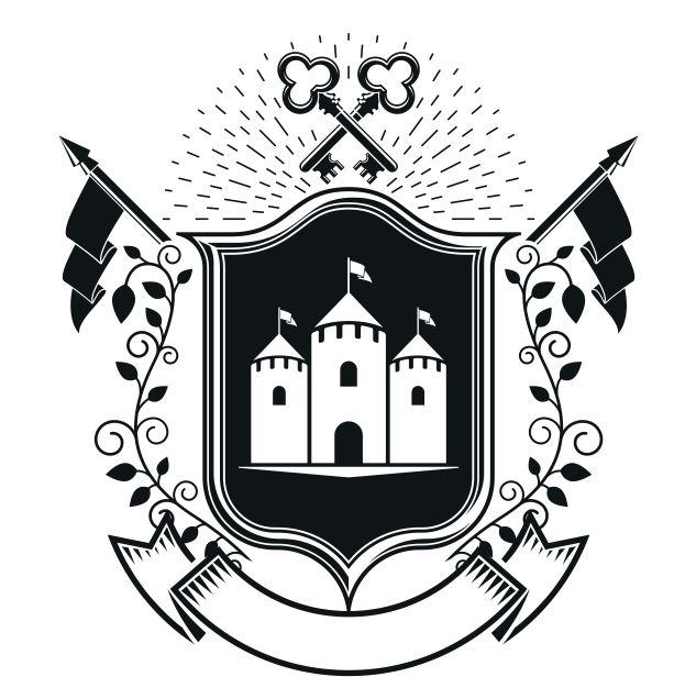 Key Castle Emblem Logo Badge Free CDR Vectors Art