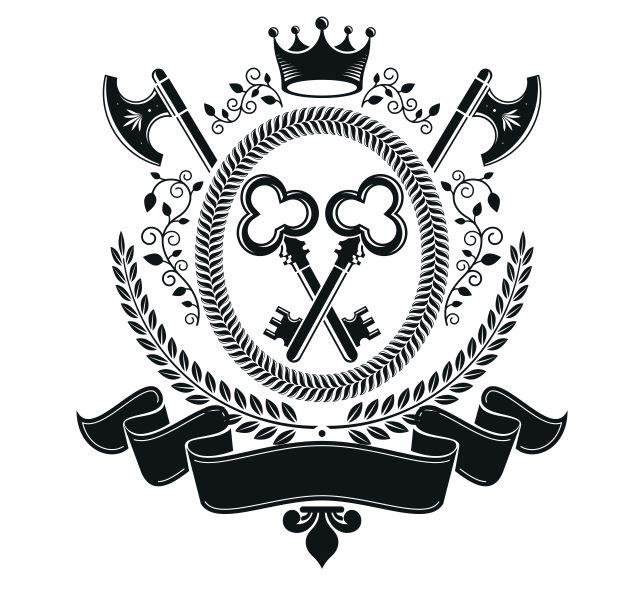 Key Emblem Badge Free CDR Vectors Art