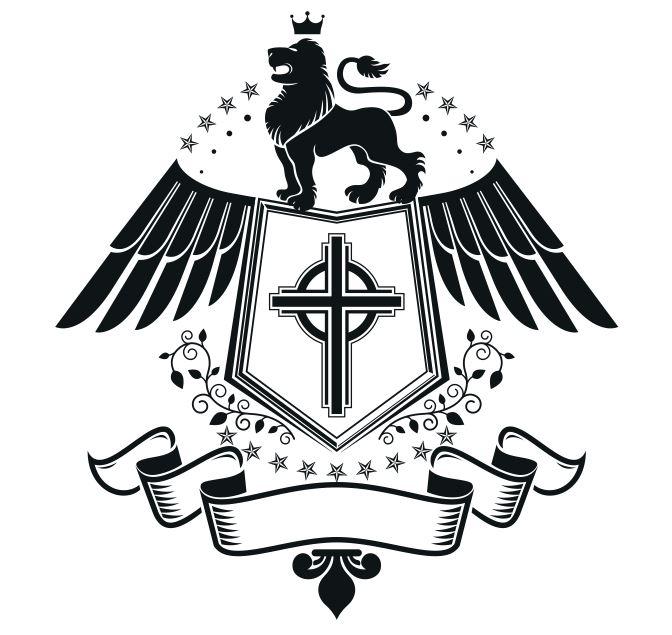 Lion Emblem Design Logo Badge Free CDR Vectors Art