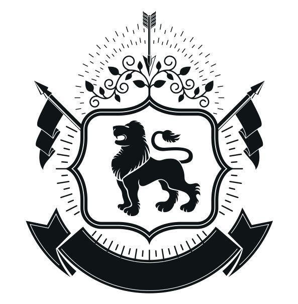 Lion Emblem Logo Badge Design Free CDR Vectors Art