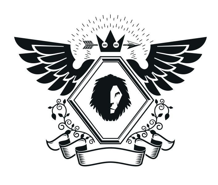 Lions Emblem Design Logo Free CDR Vectors Art