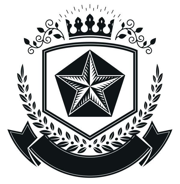 Star Emblem Design Logo Badge Free CDR Vectors Art