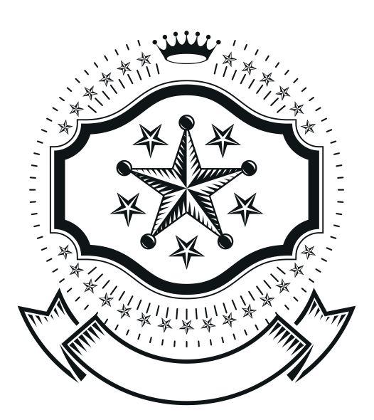 Star Emblem Design Free CDR Vectors Art