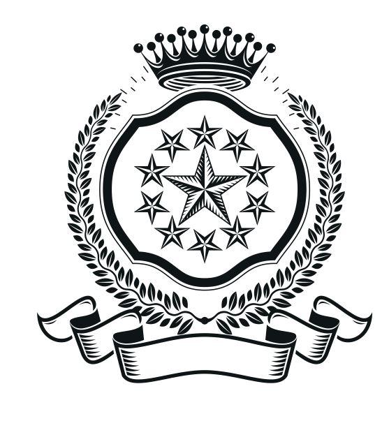 Stars Emblem Design Logo Badge Free CDR Vectors Art