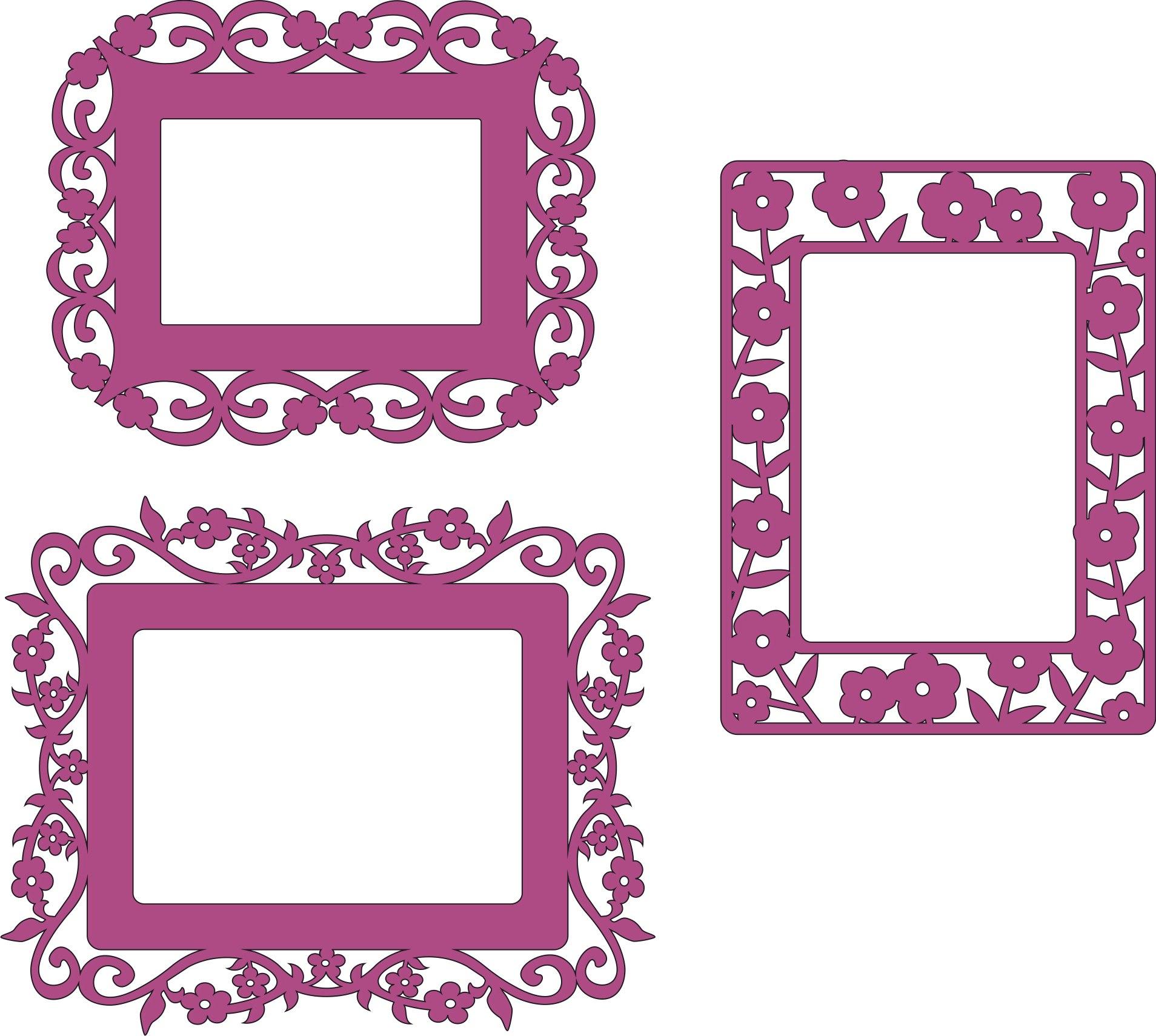 Laser Cut Patterned Photo Frame Border Free CDR Vectors Art