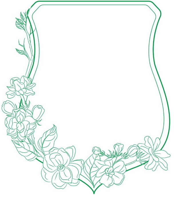 Laser Cut Gorgeous Frame With Flowers Layout Free CDR Vectors Art