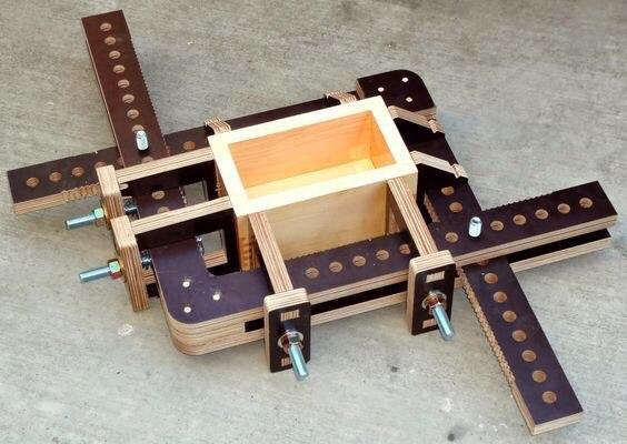 Laser Cut Jig For Gluing Boxes Layout Free CDR Vectors Art