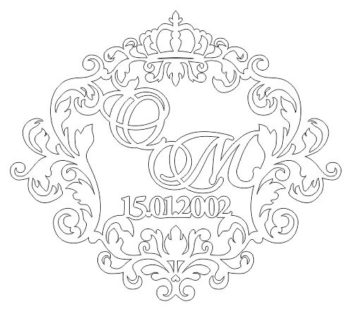 Name Wall Decal Vinyl Crown Lettering Decal Sticker Frame Custom Free CDR Vectors Art