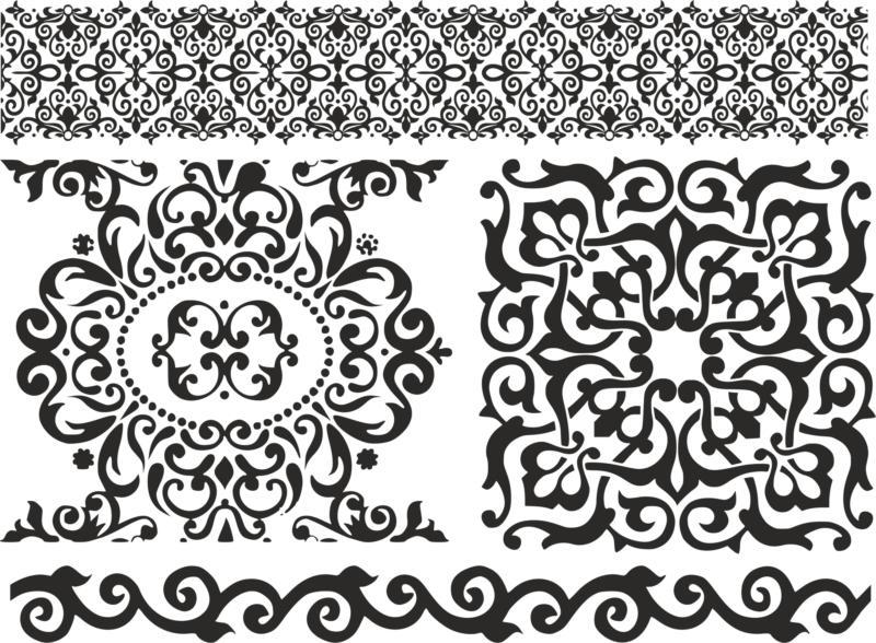Pattern Screen Panel 1475 Free CDR Vectors Art