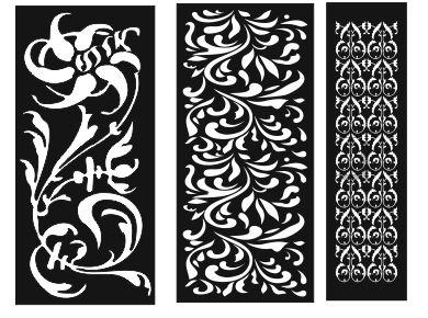 Pattern Screen Panel 1553 Free CDR Vectors Art