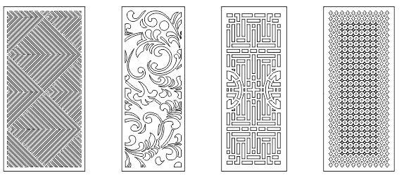 Pattern Screen Panel 1554 Free CDR Vectors Art