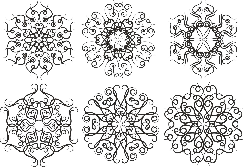 Pattern Screen Panel 1557 Free CDR Vectors Art