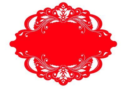 Red Ornament Border Frame Design Free CDR Vectors Art