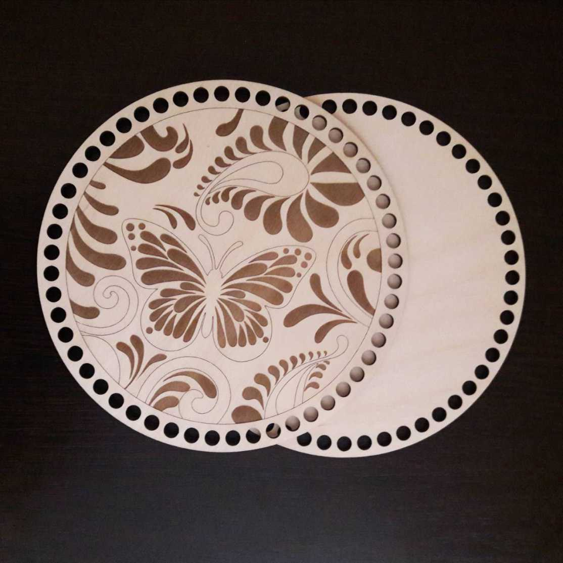 Laser Cut Bottoms For Knitting Butterfly Layout Free CDR Vectors Art