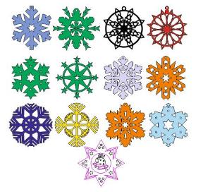Laser Cut Snowflakes Layout Free CDR Vectors Art