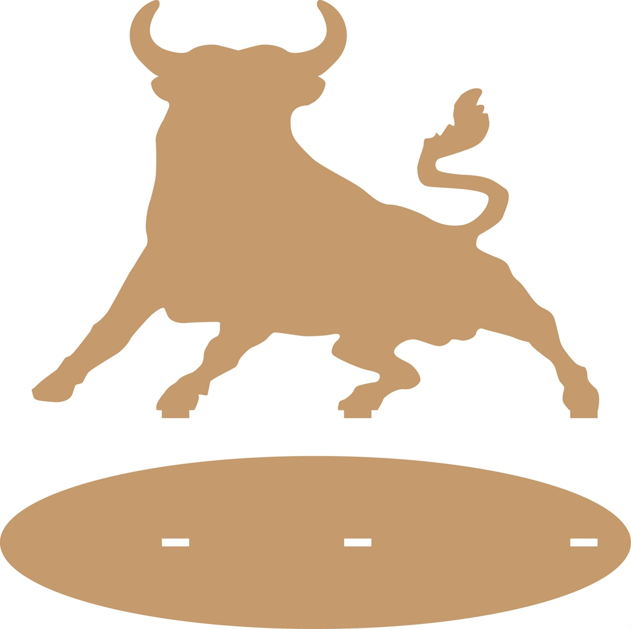 Laser Cut Bull With A Stand Layout Free CDR Vectors Art