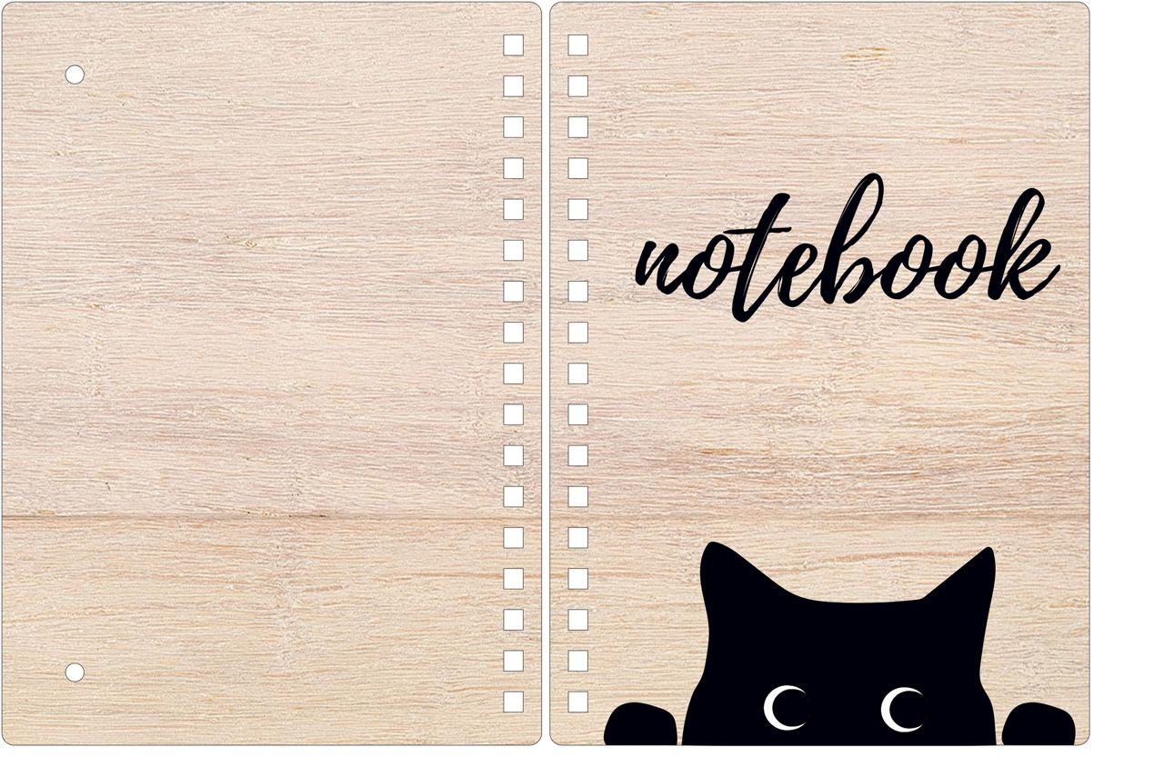 Laser Cut Cover Notebook Layout Free CDR Vectors Art