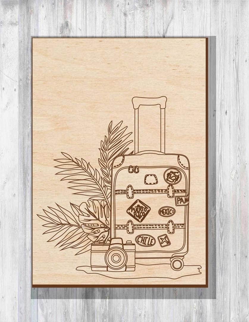 Laser Cut Cover Suitcase Layout Free CDR Vectors Art