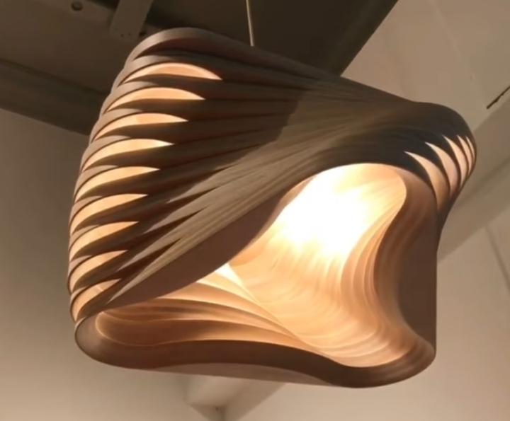 Parametric Boomerang Lamp Free DXF File