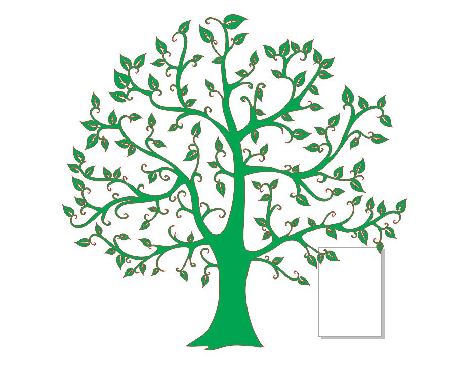 Laser Cut Book Cover Tree Notebook Layout Free DXF File