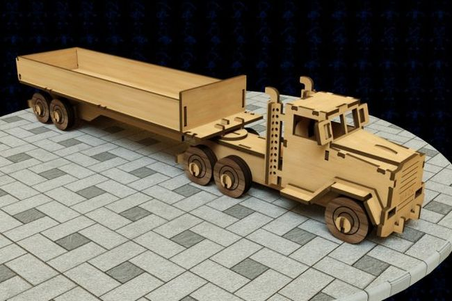 Laser Cut Lorry Free DXF File