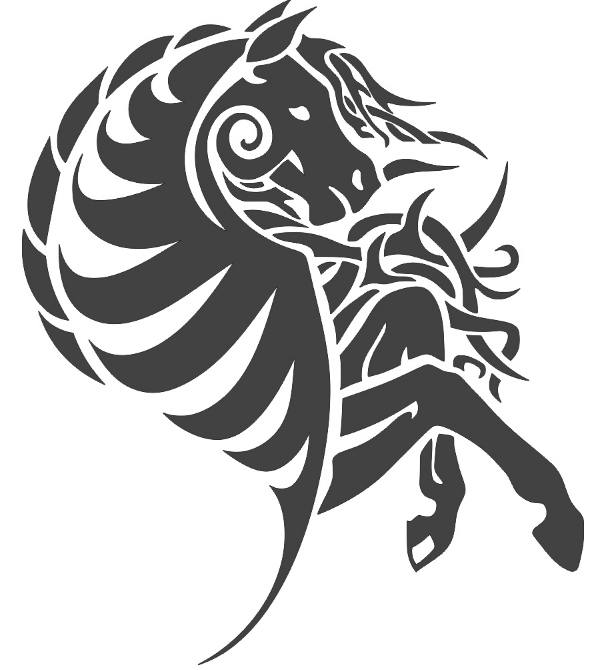 Layout Of Horse Vector Free DXF File