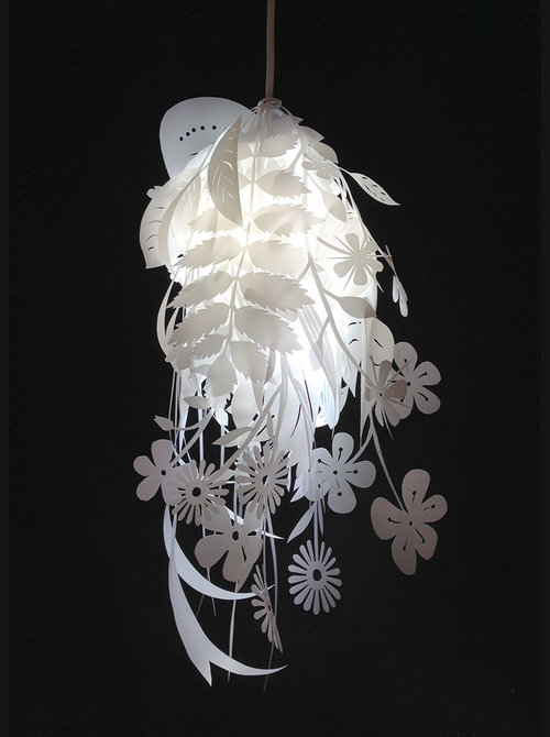 Natural Canvas lampshade Laser Free DXF File