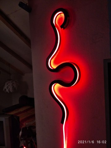 Neon Signs Rubber Led Free DXF File