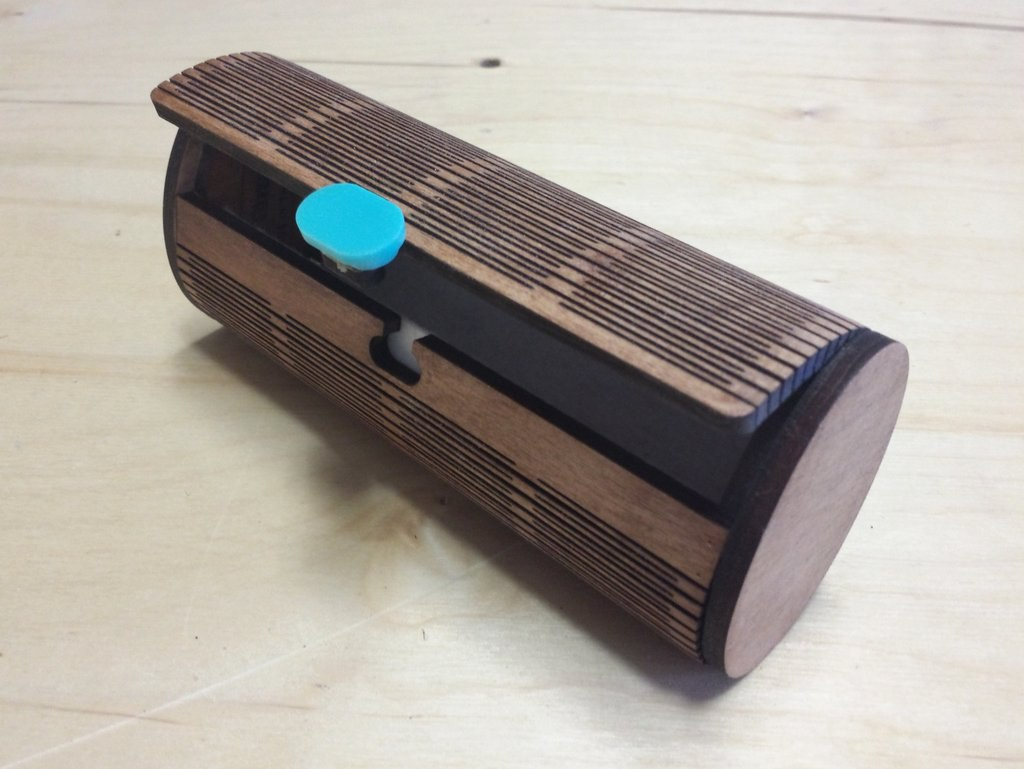 Sunglass Case Wood Free DXF File