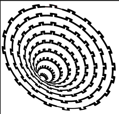 Vortex Line 14 Free DXF File