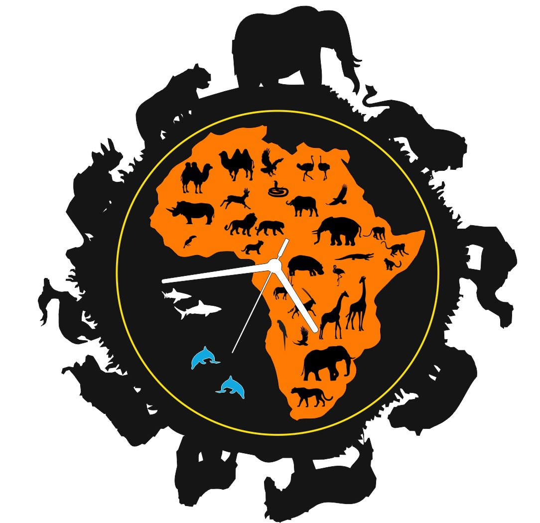 Africa Clock Free CDR Vectors Art