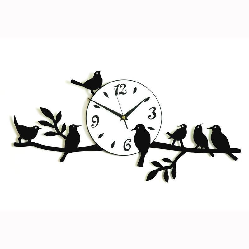 Birds Wall Clock Free CDR Vectors Art