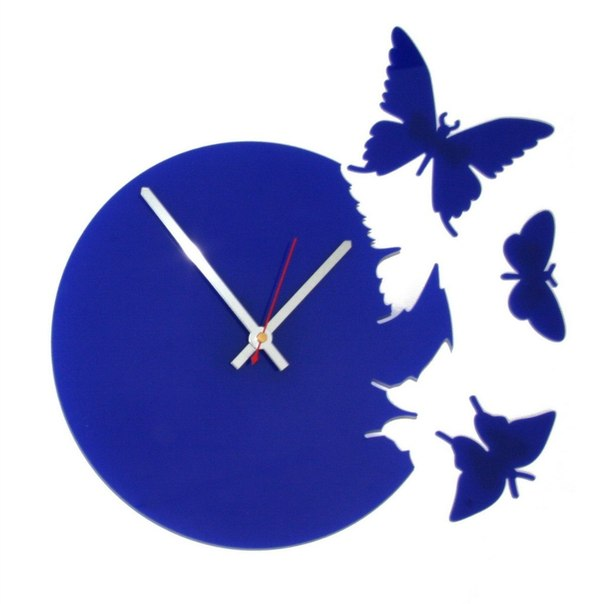 Butterflies Clock Free CDR Vectors Art