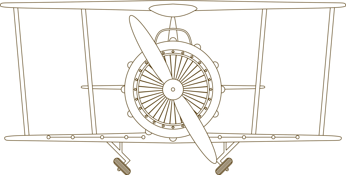 Airplane Clock Free DXF File