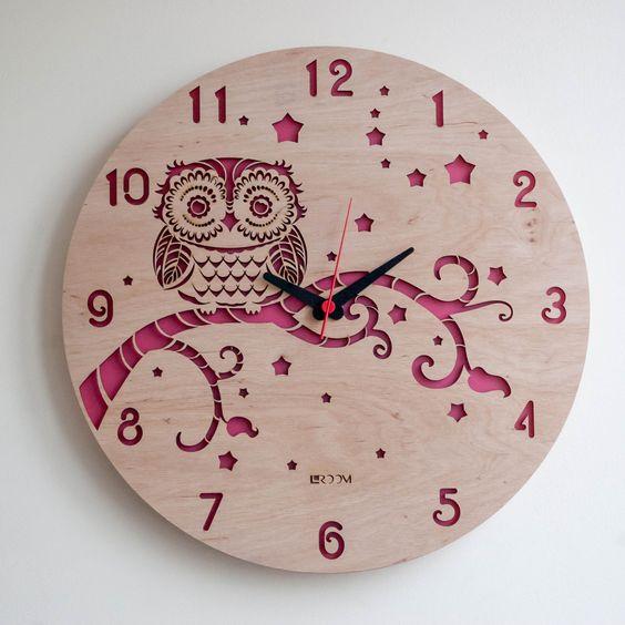 Clock Owl Engraving Free DXF File