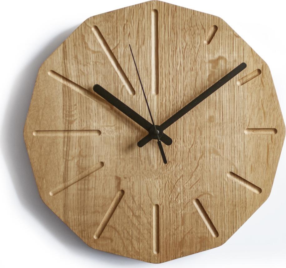 Solid Oak Wall Clock Free DXF File