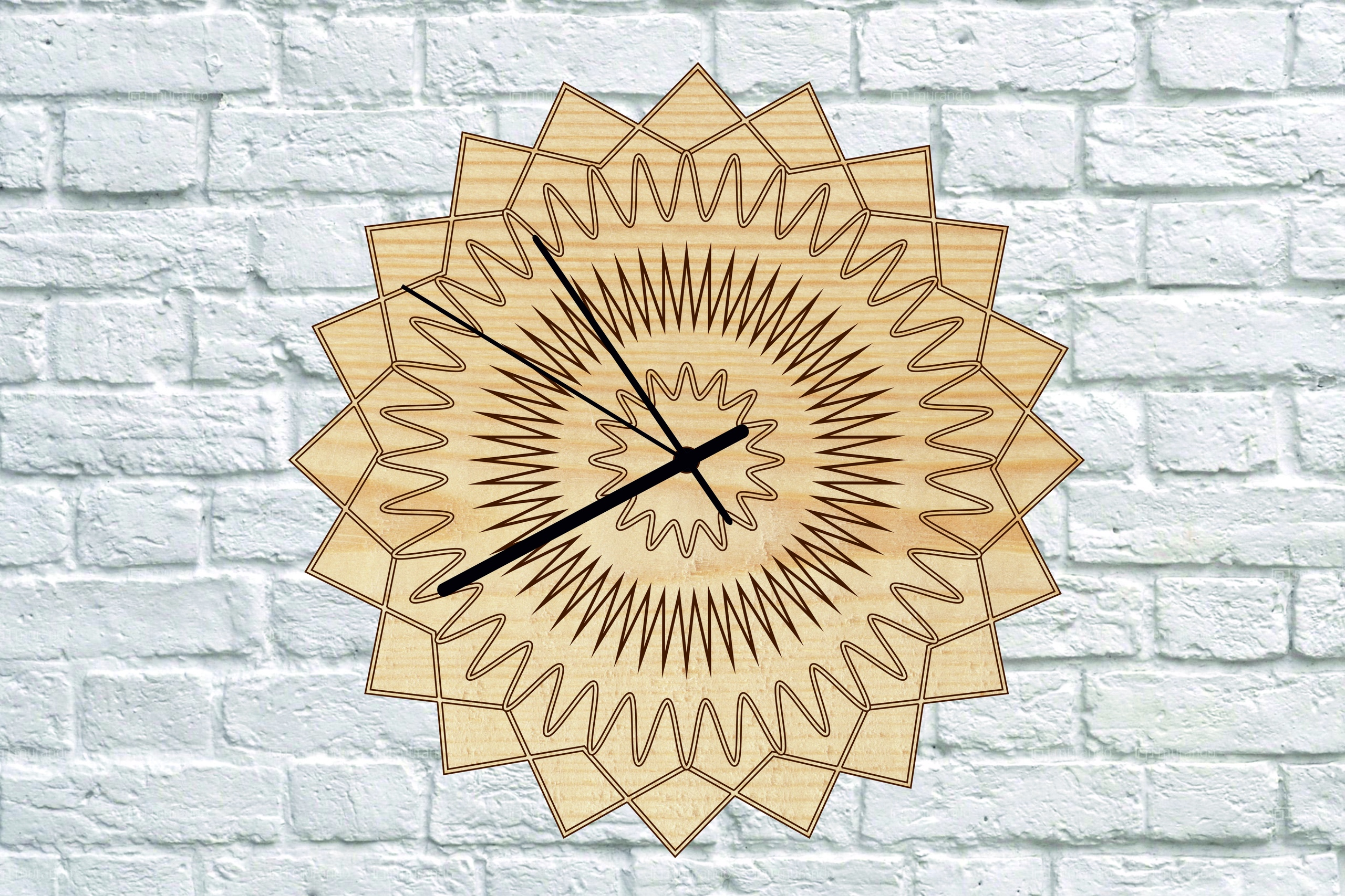 Clock Wooden Free CDR Vectors Art