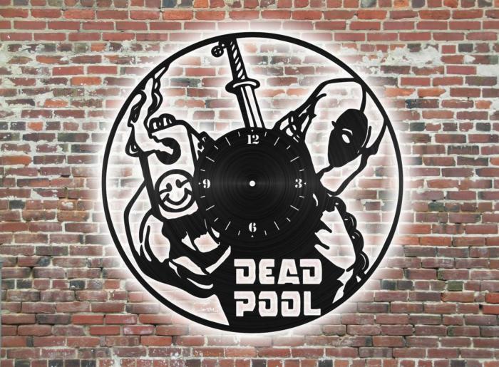 Dead Pool vinyl Wall Clock Free CDR Vectors Art