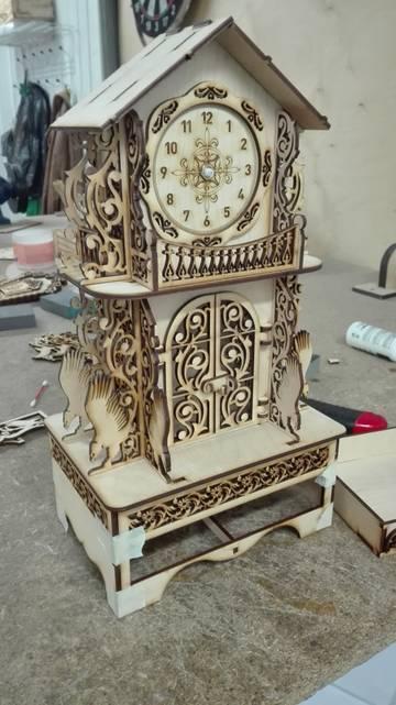 Laser Cut Large Clock Free CDR Vectors Art