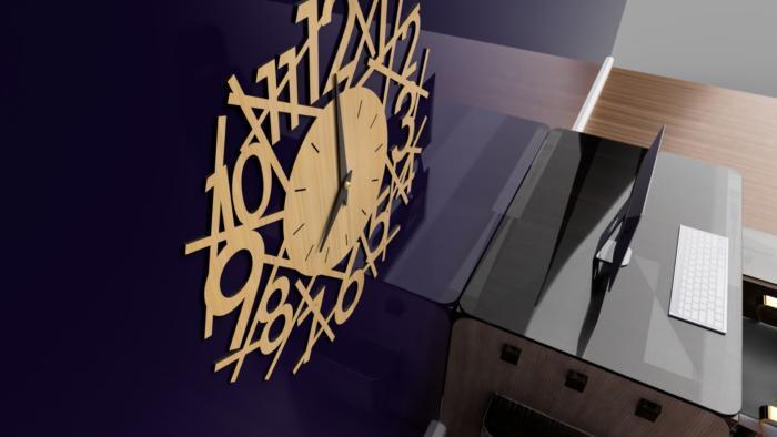 Modern Clock Design Free CDR Vectors Art