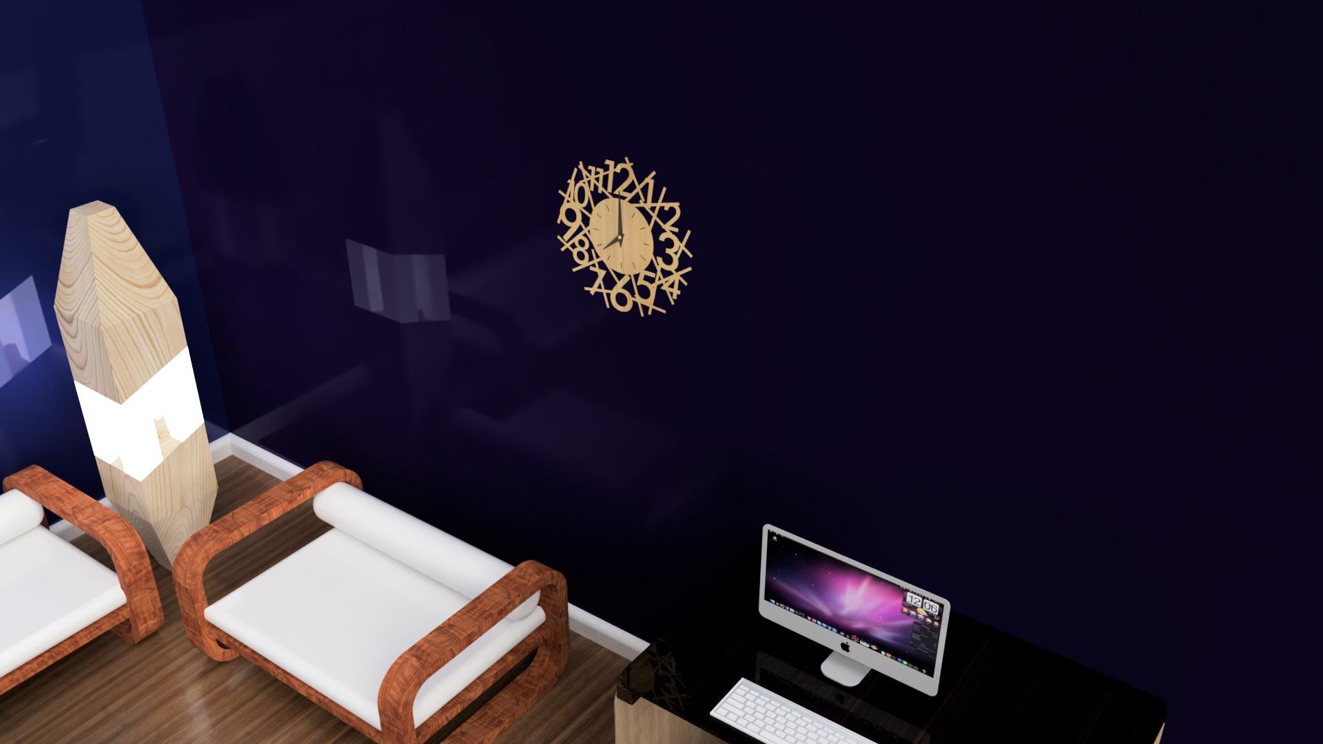 Laser cut Modern Clock Design Free CDR Vectors Art